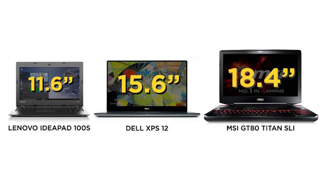 Tips Membeli Laptop : Ukuran Laptop