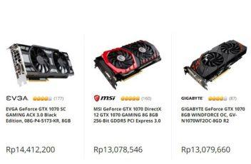 Harga GPU hari ini