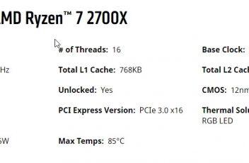 AMD Ryzen 2700X Spek